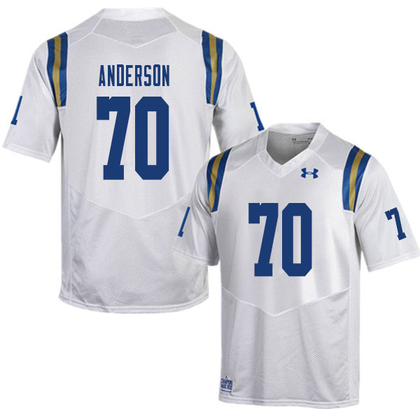 Men #70 Alec Anderson UCLA Bruins College Football Jerseys Sale-White