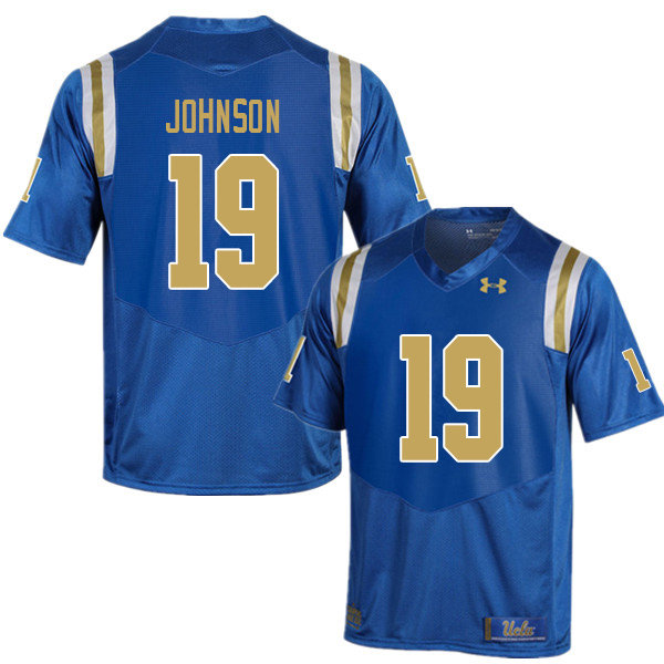 Men #19 Alex Johnson UCLA Bruins College Football Jerseys Sale-Blue