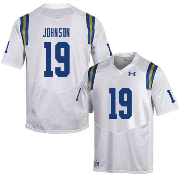 Men #19 Alex Johnson UCLA Bruins College Football Jerseys Sale-White