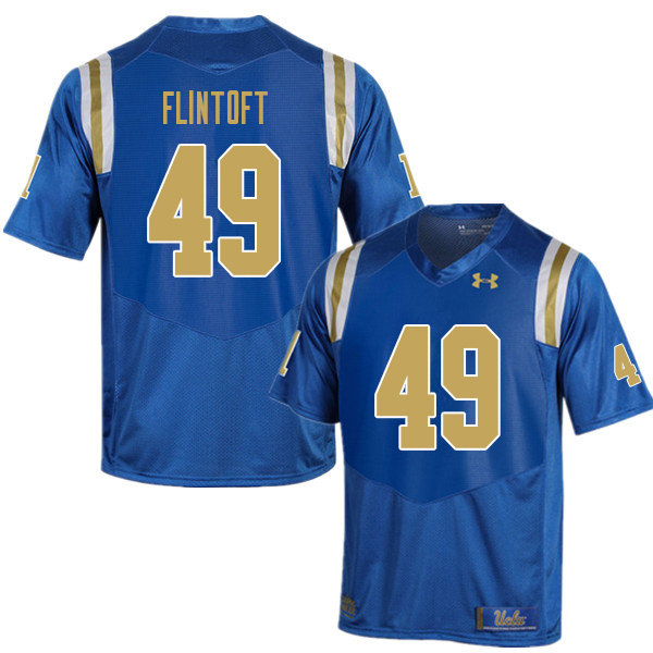 Men #49 Collin Flintoft UCLA Bruins College Football Jerseys Sale-Blue