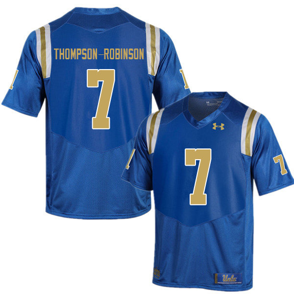 Men #7 Dorian Thompson-Robinson UCLA Bruins College Football Jerseys Sale-Blue
