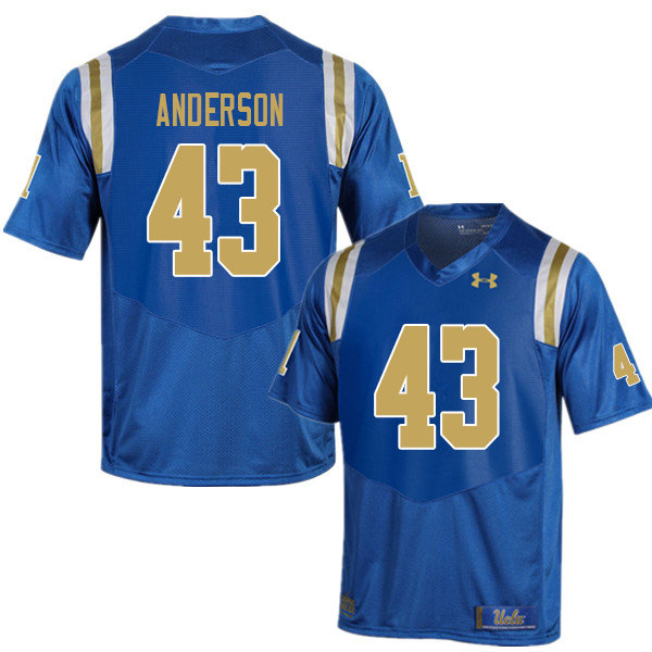 Men #43 Je'Vari Anderson UCLA Bruins College Football Jerseys Sale-Blue