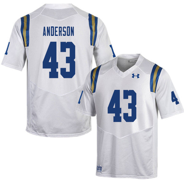 Men #43 Je'Vari Anderson UCLA Bruins College Football Jerseys Sale-White