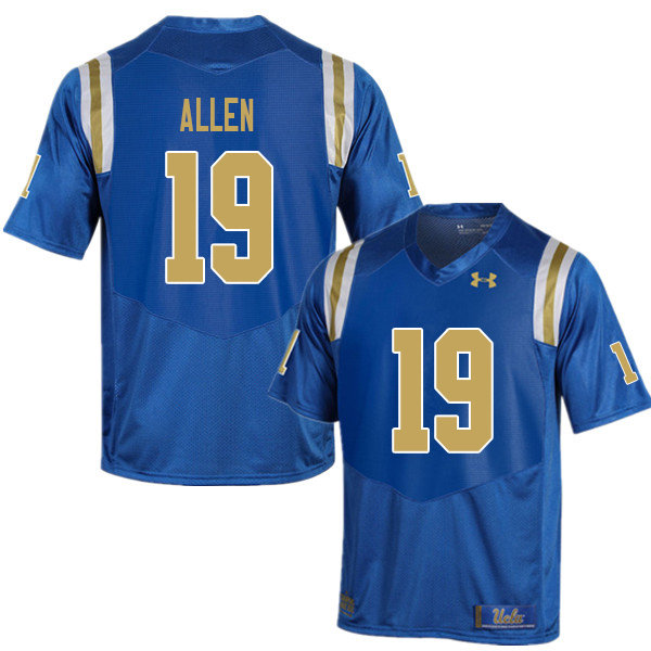 Men #19 Kazmeir Allen UCLA Bruins College Football Jerseys Sale-Blue