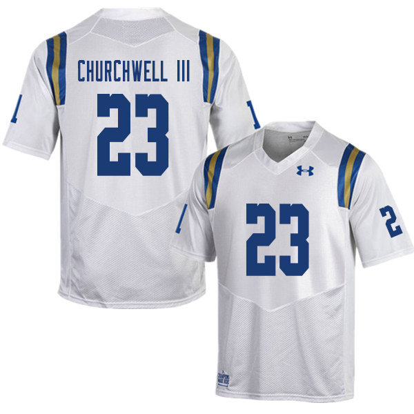 Men #23 Kenny Churchwell III UCLA Bruins College Football Jerseys Sale-White