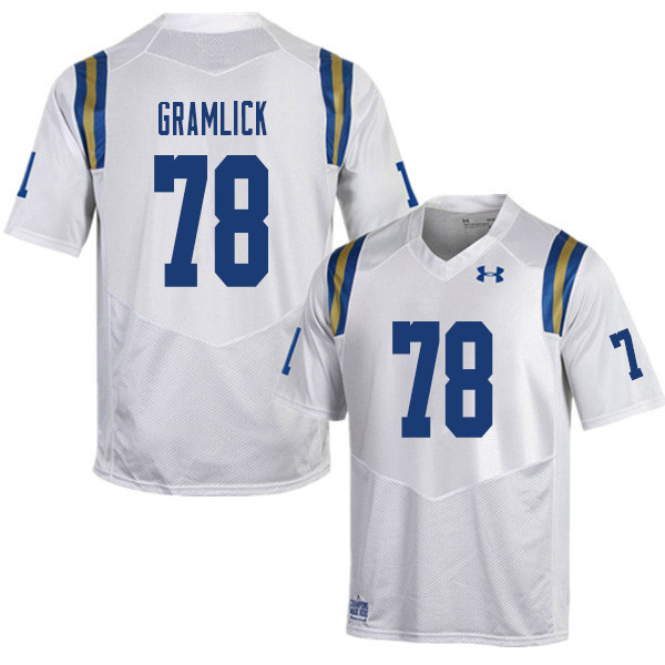 Men #78 Lucas Gramlick UCLA Bruins College Football Jerseys Sale-White