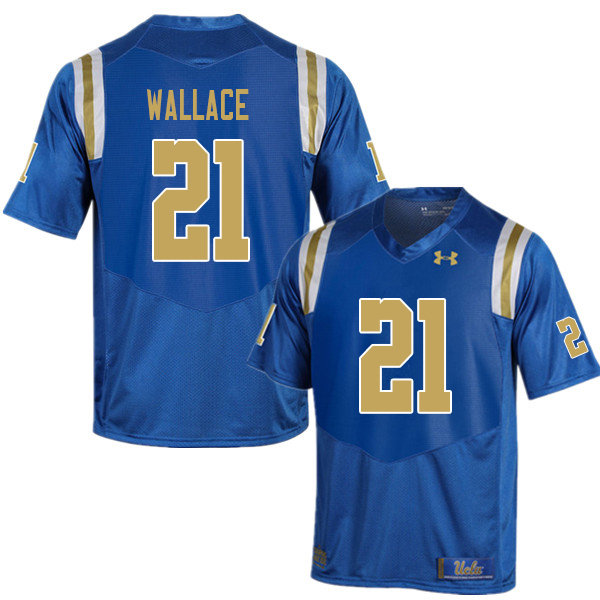 Men #21 Quentin Wallace UCLA Bruins College Football Jerseys Sale-Blue