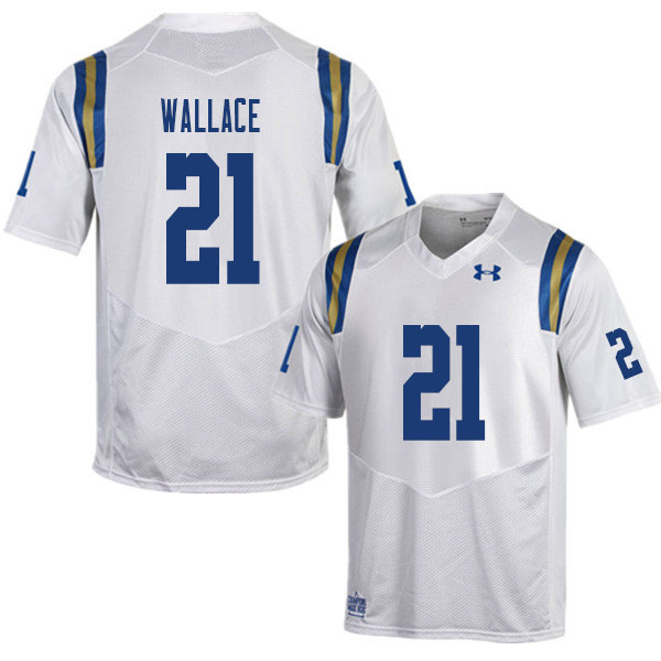 Men #21 Quentin Wallace UCLA Bruins College Football Jerseys Sale-White