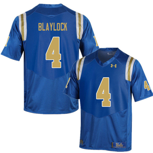 Men #4 Stephan Blaylock UCLA Bruins College Football Jerseys Sale-Blue