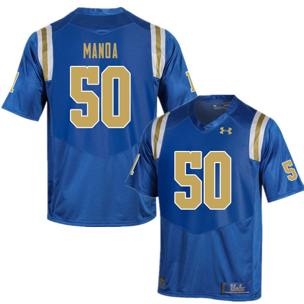 Men #50 Tyler Manoa UCLA Bruins College Football Jerseys Sale-Blue