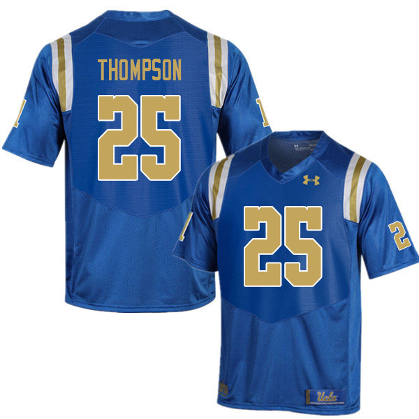 Men #25 Tyree Thompson UCLA Bruins College Football Jerseys Sale-Blue