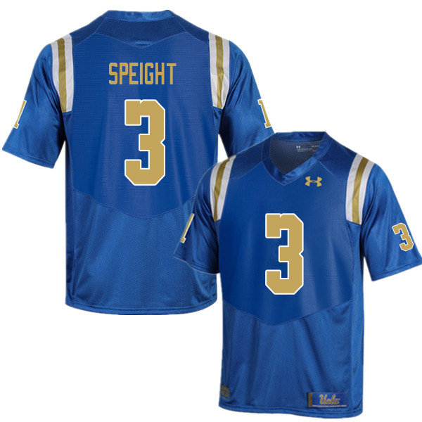 Men #3 Wilton Speight UCLA Bruins College Football Jerseys Sale-Blue
