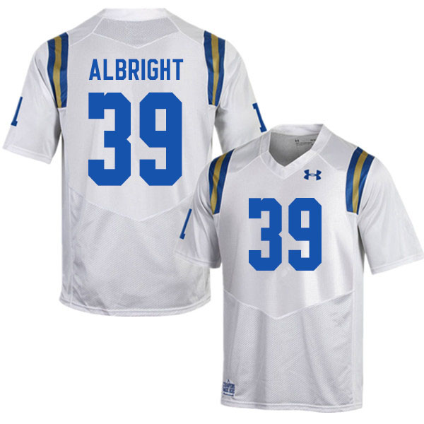 Men #39 Barret Albright UCLA Bruins College Football Jerseys Sale-White