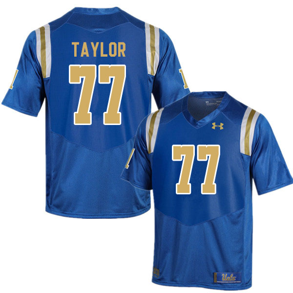 Men #77 Beau Taylor UCLA Bruins College Football Jerseys Sale-Blue