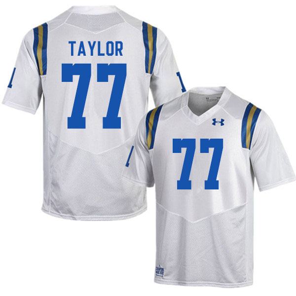 Men #77 Beau Taylor UCLA Bruins College Football Jerseys Sale-White