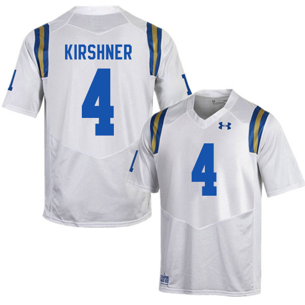Men #4 Blake Kirshner UCLA Bruins College Football Jerseys Sale-White