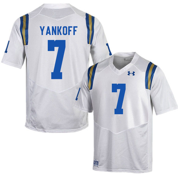 Men #7 Colson Yankoff UCLA Bruins College Football Jerseys Sale-White