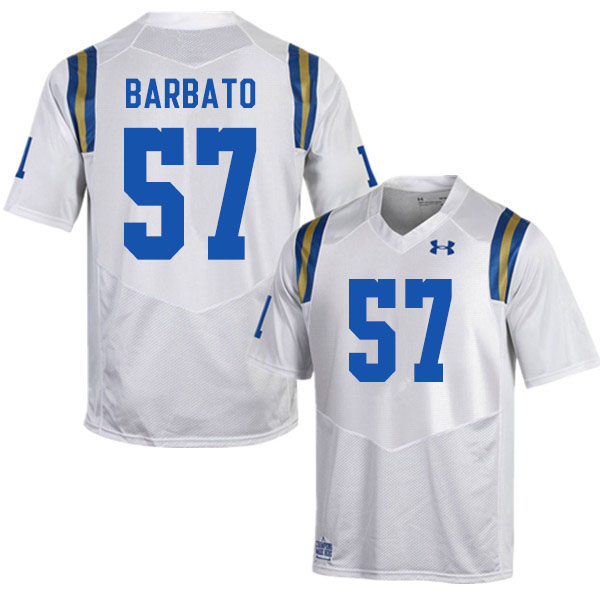 Men #57 Connor Barbato UCLA Bruins College Football Jerseys Sale-White