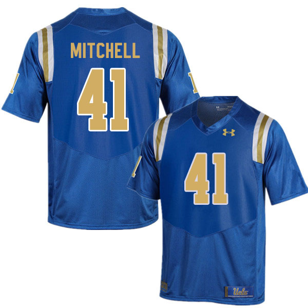 Men #41 Dusty Mitchell UCLA Bruins College Football Jerseys Sale-Blue