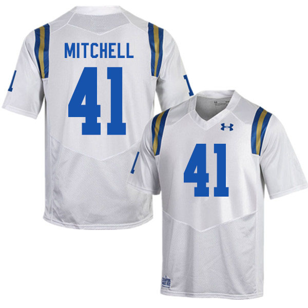 Men #41 Dusty Mitchell UCLA Bruins College Football Jerseys Sale-White
