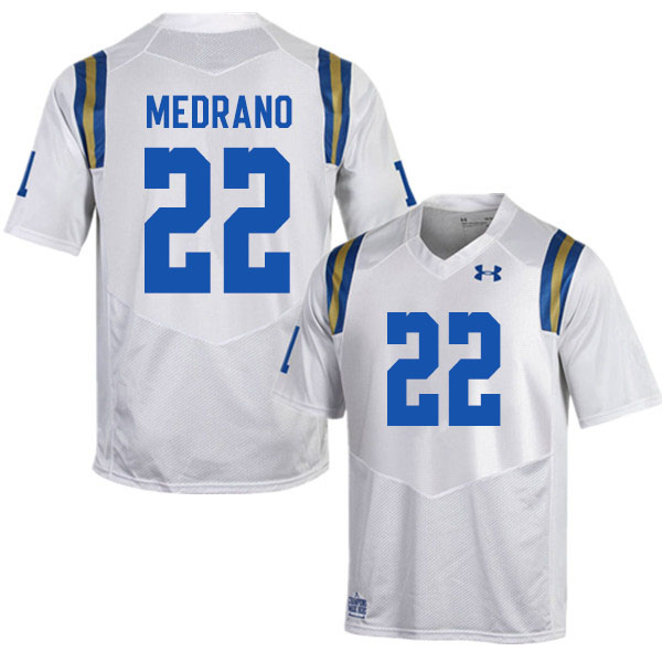Men #22 Kain Medrano UCLA Bruins College Football Jerseys Sale-White