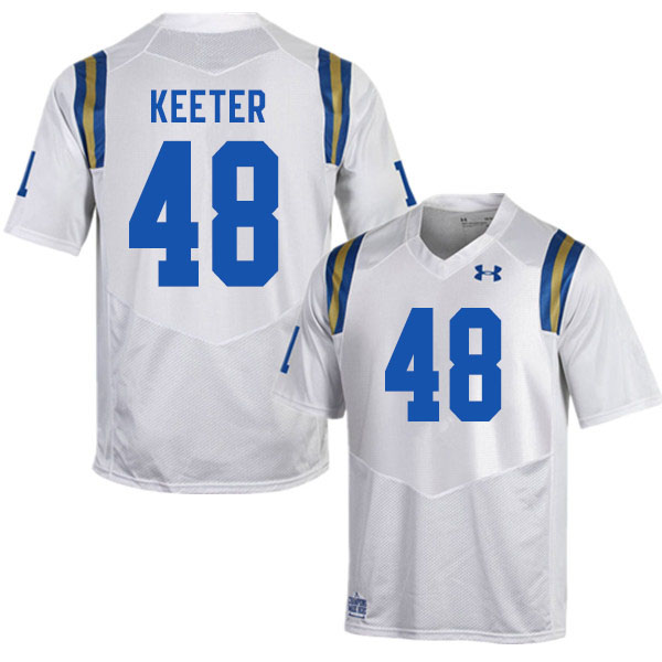 Men #48 Noah Keeter UCLA Bruins College Football Jerseys Sale-White
