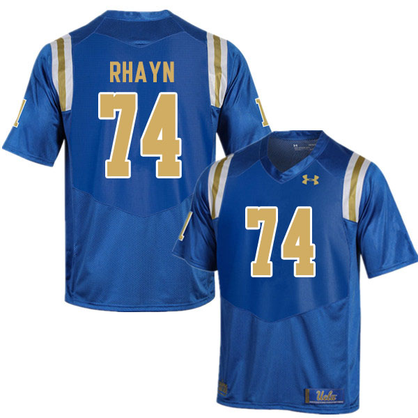 Men #74 Sean Rhayn UCLA Bruins College Football Jerseys Sale-Blue