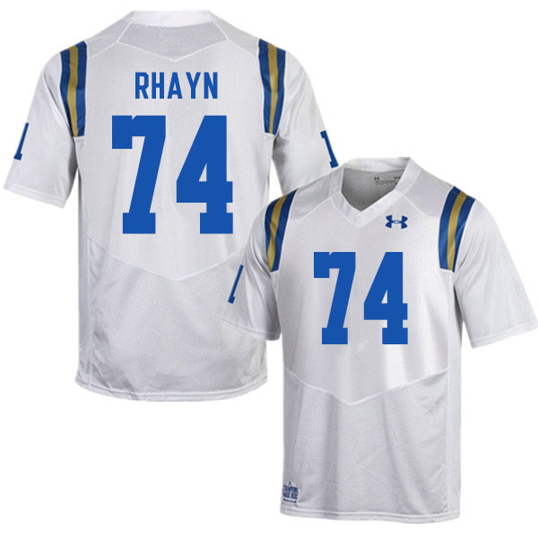 Men #74 Sean Rhayn UCLA Bruins College Football Jerseys Sale-White