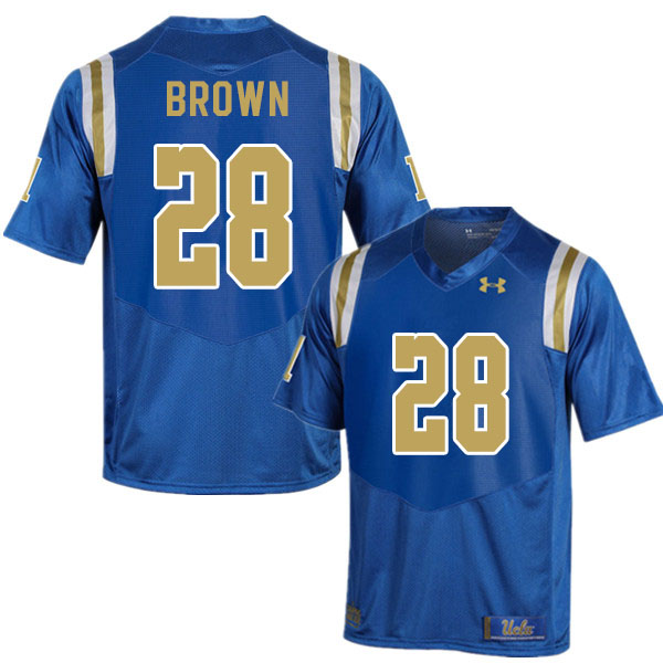Men #28 Brittain Brown UCLA Bruins College Football Jerseys Sale-Blue