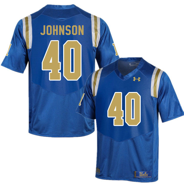 Men #40 Caleb Johnson UCLA Bruins College Football Jerseys Sale-Blue