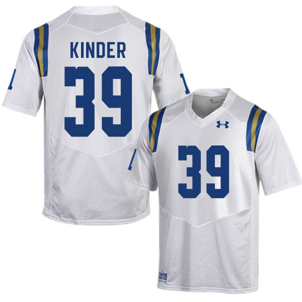 Men #39 Cole Kinder UCLA Bruins College Football Jerseys Sale-White
