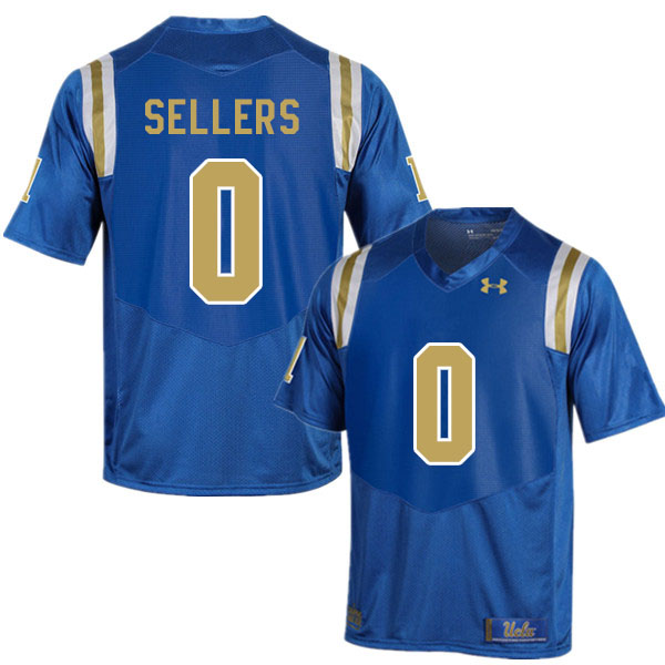 Men #0 Damian Sellers UCLA Bruins College Football Jerseys Sale-Blue