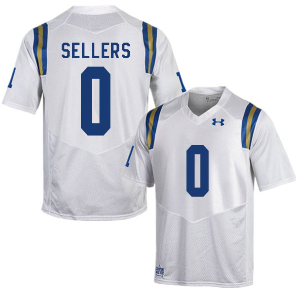 Men #0 Damian Sellers UCLA Bruins College Football Jerseys Sale-White