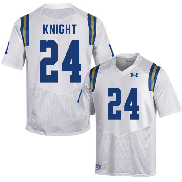 Men #24 Qwuantrezz Knight UCLA Bruins College Football Jerseys Sale-White