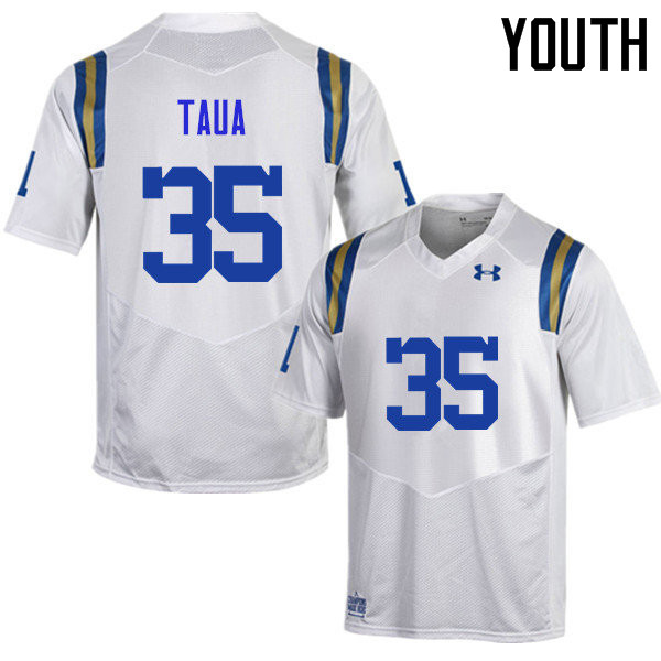 Youth #35 Ainuu Taua UCLA Bruins Under Armour College Football Jerseys Sale-White