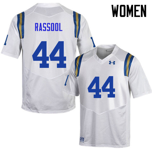 Women #44 Alex Rassool UCLA Bruins Under Armour College Football Jerseys Sale-White
