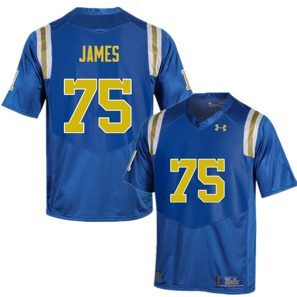 Men #75 Andre James UCLA Bruins Under Armour College Football Jerseys Sale-Blue