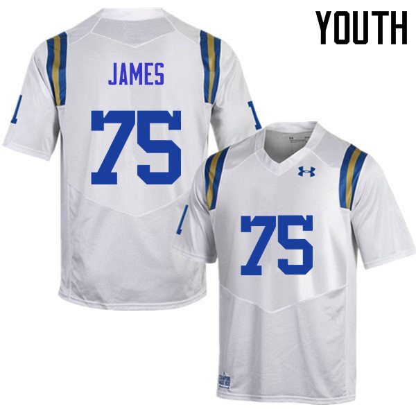 Youth #75 Andre James UCLA Bruins Under Armour College Football Jerseys Sale-White