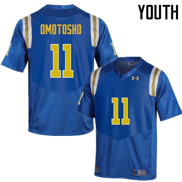 Youth #11 Audie Omotosho UCLA Bruins Under Armour College Football Jerseys Sale-Blue