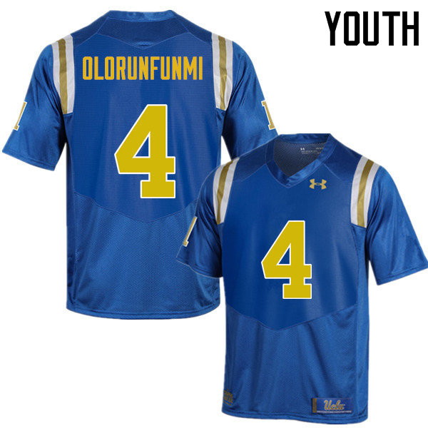 Youth #4 Bolu Olorunfunmi UCLA Bruins Under Armour College Football Jerseys Sale-Blue