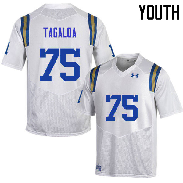Youth #75 Boss Tagaloa UCLA Bruins Under Armour College Football Jerseys Sale-White