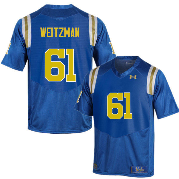 Men #61 Bryan Weitzman UCLA Bruins Under Armour College Football Jerseys Sale-Blue