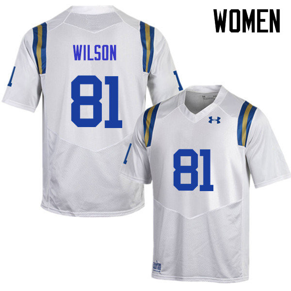 Women #81 Caleb Wilson UCLA Bruins Under Armour College Football Jerseys Sale-White