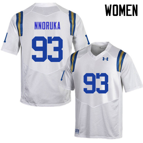 Women #93 Chigozie Nnoruka UCLA Bruins Under Armour College Football Jerseys Sale-White