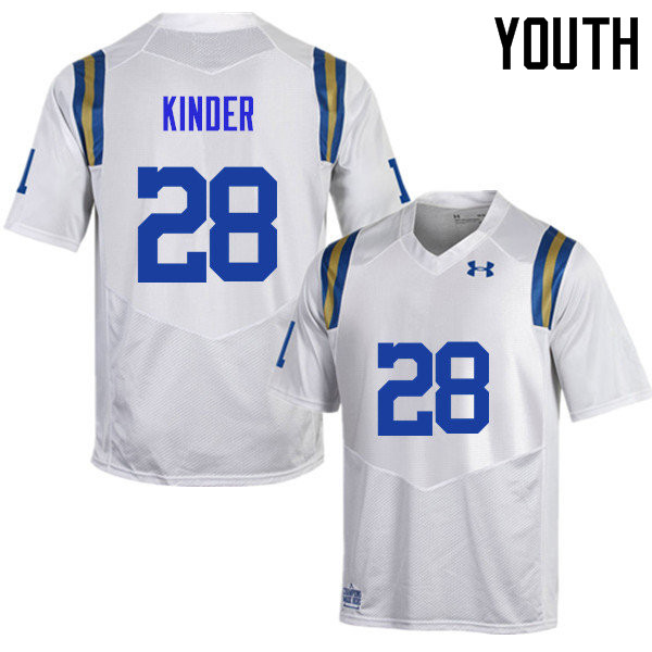 Youth #28 Cole Kinder UCLA Bruins Under Armour College Football Jerseys Sale-White