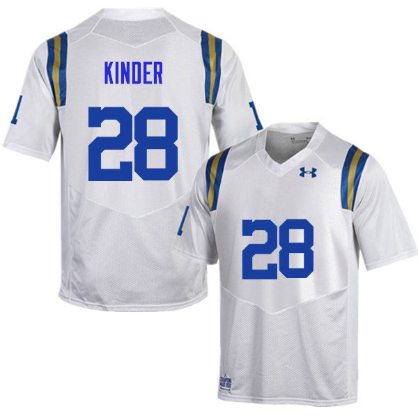 Men #28 Cole Kinder UCLA Bruins Under Armour College Football Jerseys Sale-White