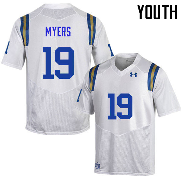 Youth #19 Craig Myers UCLA Bruins Under Armour College Football Jerseys Sale-White