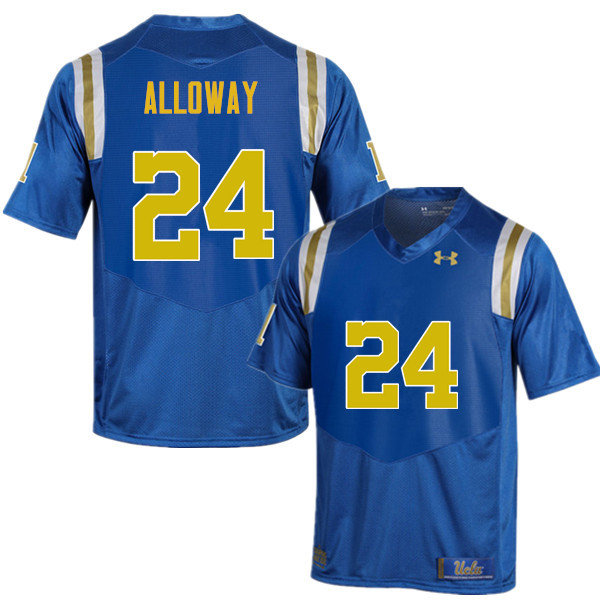 Men #24 Damian Alloway UCLA Bruins Under Armour College Football Jerseys Sale-Blue