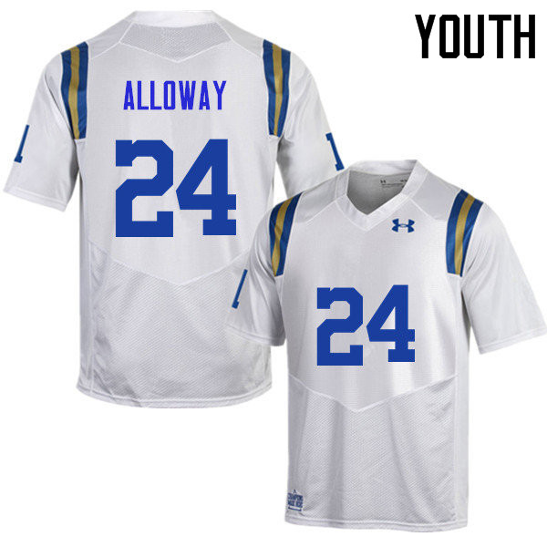 Youth #24 Damian Alloway UCLA Bruins Under Armour College Football Jerseys Sale-White