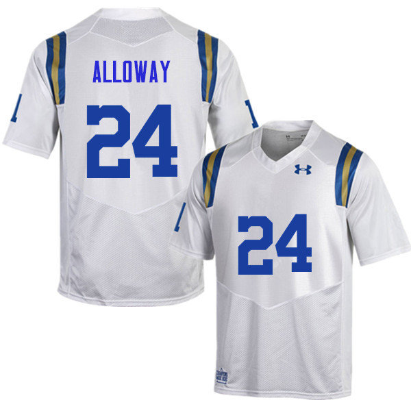 Men #24 Damian Alloway UCLA Bruins Under Armour College Football Jerseys Sale-White